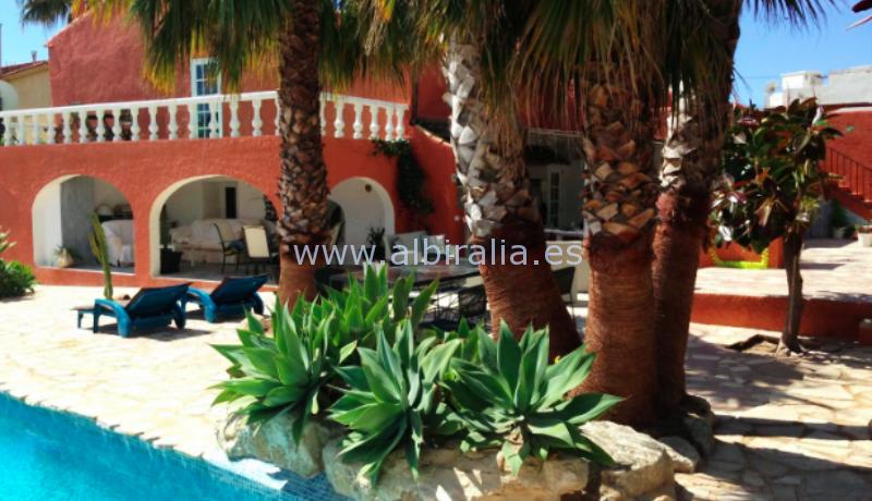 sjarmerende villa til langsiktig leie og til salgs i sentrum av Alfaz havutsikt panorama utsikt tilbud #albiralia