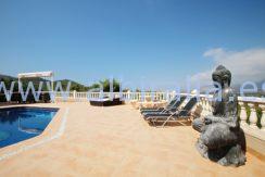 chalet lujo alquiler albir verano piscina privada vista mar