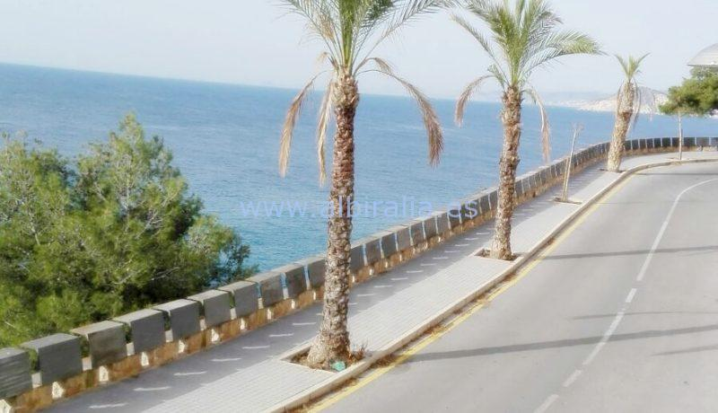 town house sea view cala benidorm rent