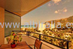 Havutsikt terrasse Albir strand Altea utleieleilighet