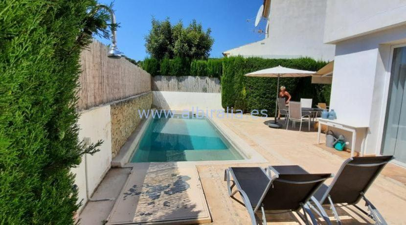 Garden and private pool urb Belmonte Den Norske Skole Alfaz