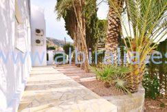 Uteområdet villa ved fyret i Albir Sierra Helada