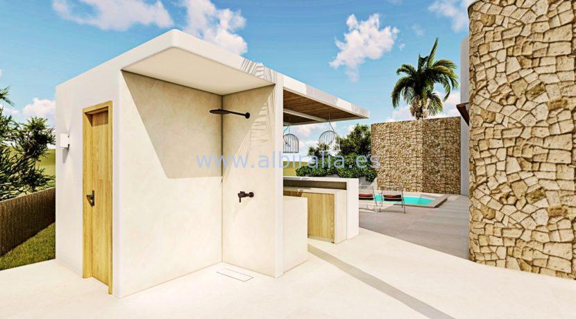 Long term rent villa Albir casita and outdoor shower
