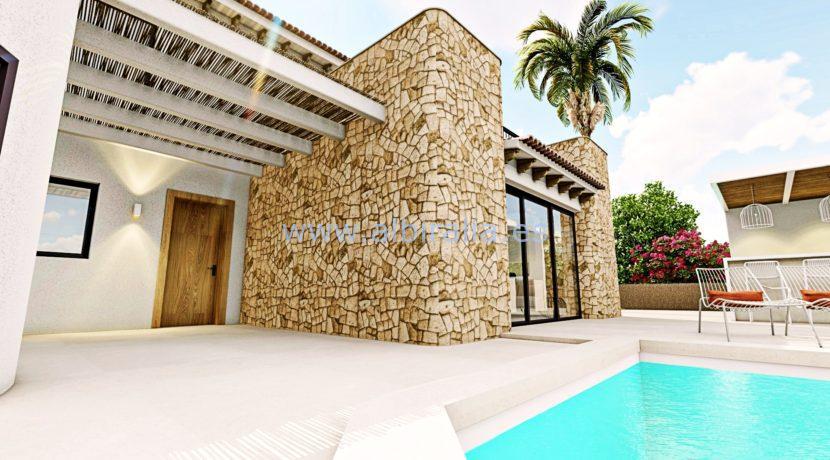 Long term rent villa Albir entrance to the house