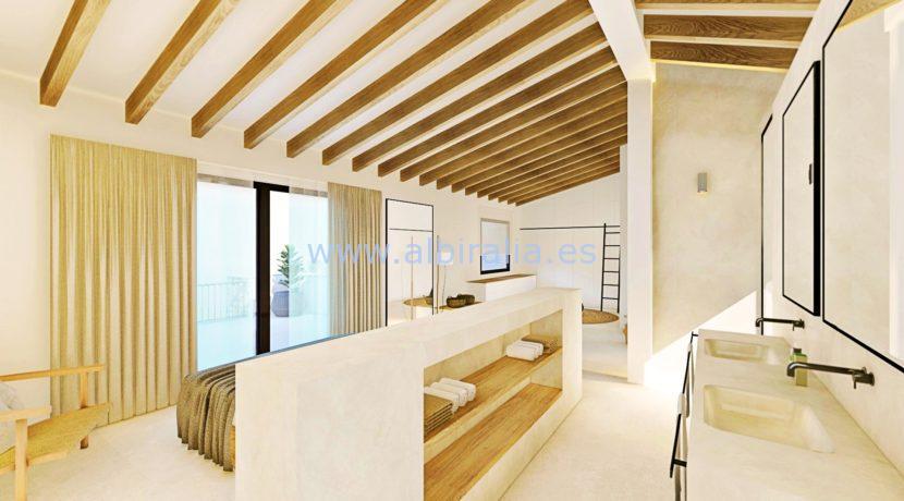 Long term rent villa Albir in suit bathroom