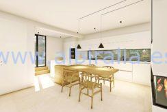 Long term rent villa Albir kitchen