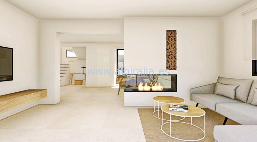 Long term rent villa Albir living TV room