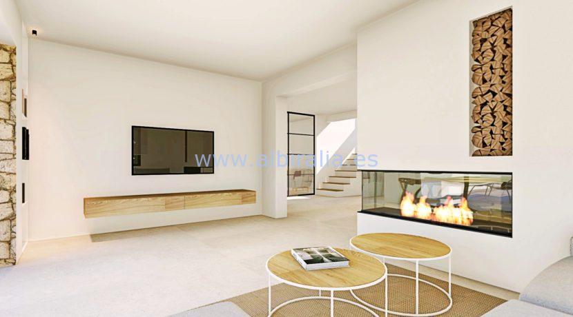 Long term rent villa Albir living room 2