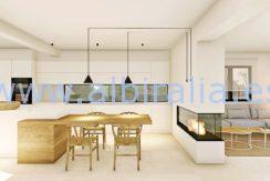 Long term rent villa Albir living room