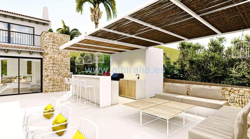 Long term rent villa Albir lounge area