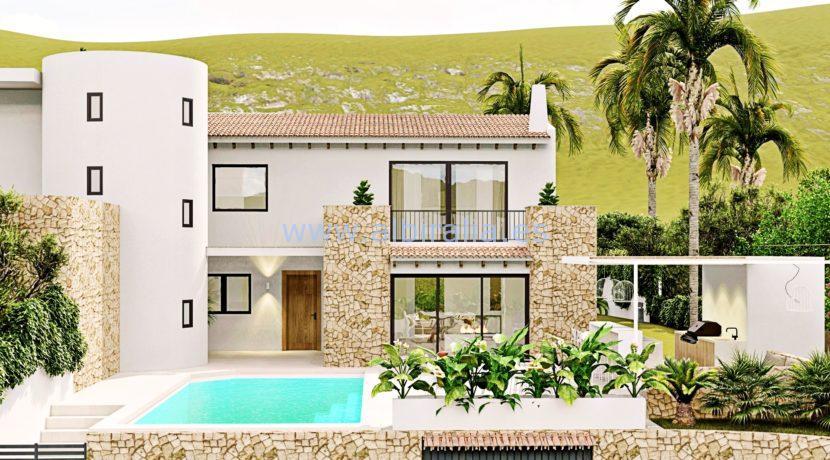 Long term rent villa Albir outdoor space