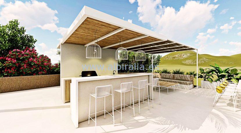 Long term rent villa Albir panoramic view garden area