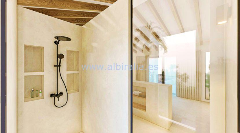 Long term rent villa Albir shower at the master bedroom
