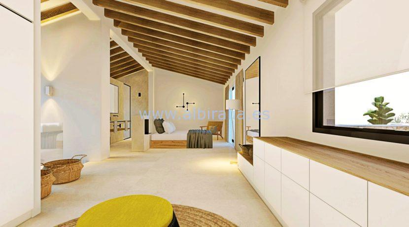 Long term rent villa Albir spacios master bedroom