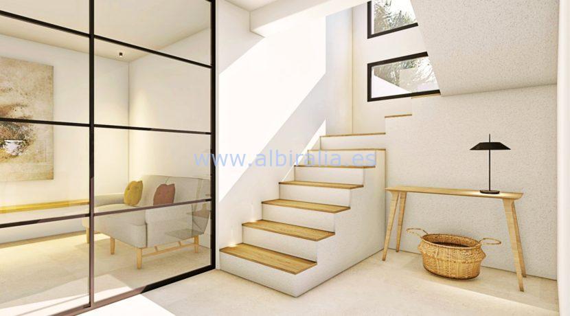 Long term rent villa Albir stairs
