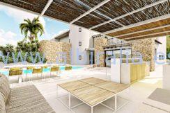 Long term rent villa Albir summer kitchen