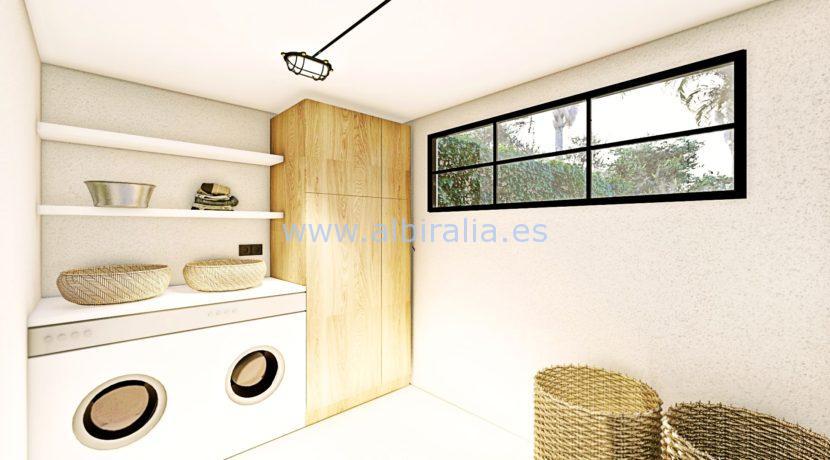 Long term rent villa Albir utility room