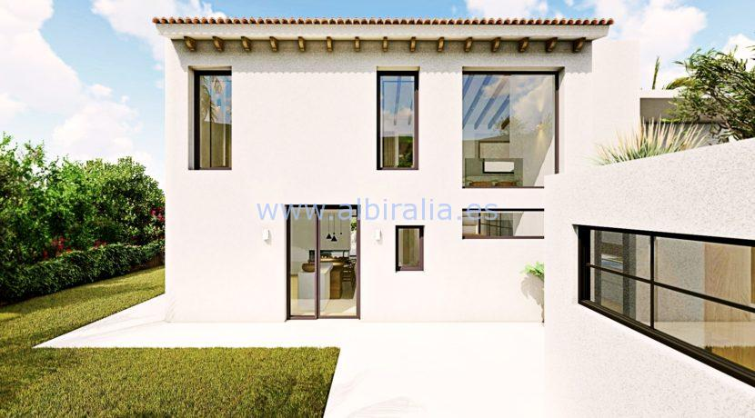 Long term rent villa Albir view from behind