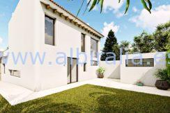 Long term rent villa Albir view from the corner