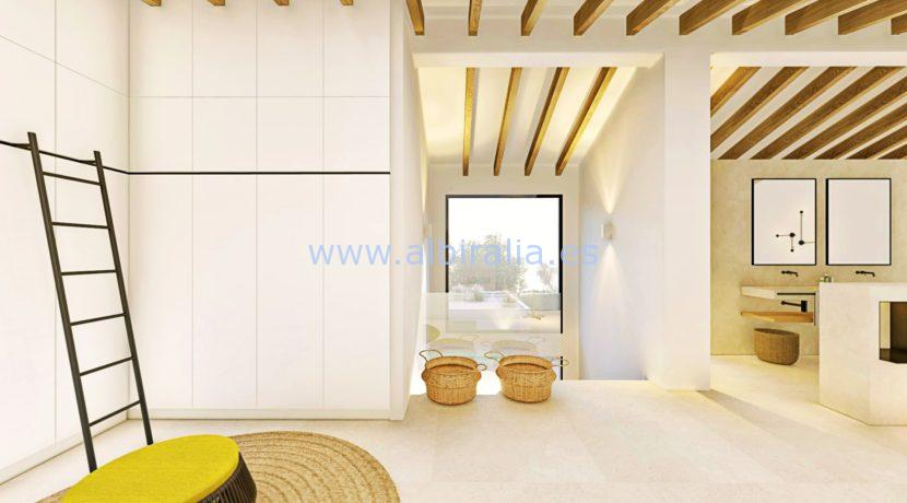 Long term rent villa Albir warderobe main bedroom
